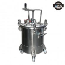 X-PRO 압송탱크30L 수동교반기 SUS 스텐압송용기 30L자동압송탱크 도료탱크 압송용기